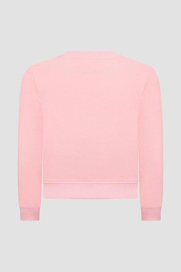 Girls Pink Sweat Top