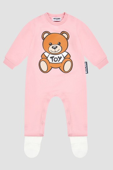 Baby Girls Pink Sleepsuit