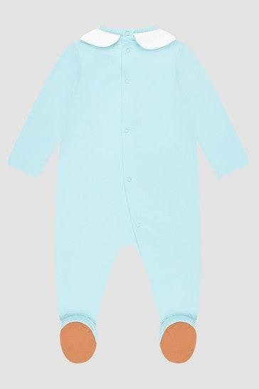 Baby Boys Blue Sleepsuit Set