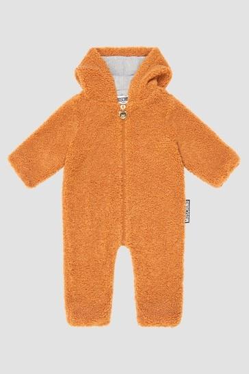 Baby Unisex Brown Pramsuit