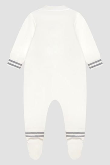 Baby Unisex White Sleepsuit