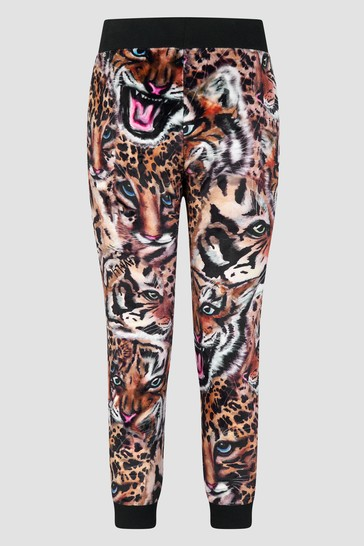 Girls Leopard Print Joggers