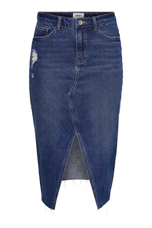 super popular fashion design highly coveted range of Only Slit Long Denim Skirt