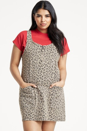 huge range of best choice 60% clearance Buy Simply Be Animal Print Pinafore Dress from Next Ireland