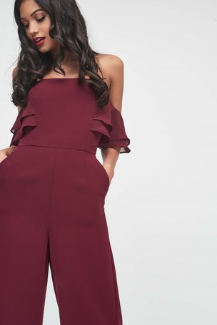 Buy Lavish Alice Chiffon Off Shoulder Culotte Jumpsuit from the Next ... f97aa44eaf