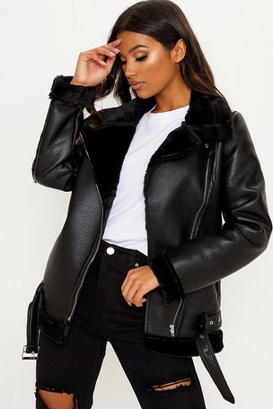 hot-selling fashion better price for super cute Buy PrettyLittleThing Aviator Jacket from Next Ireland
