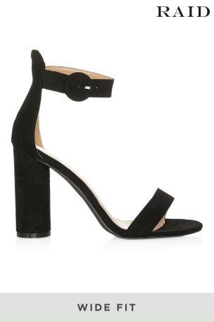 Raid Wide Fit Block Heel Sandals