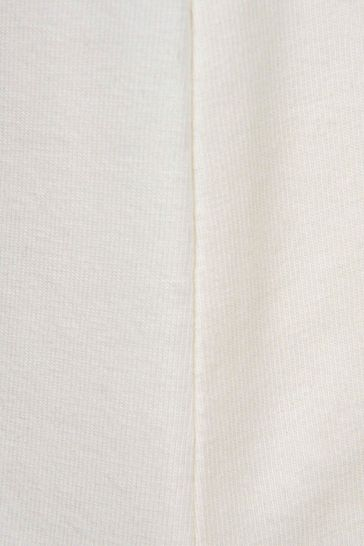 Girls Ivory Cotton Long Sleeve T-Shirt