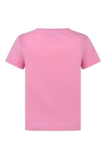 Girls Cotton Logo Print T-Shirt