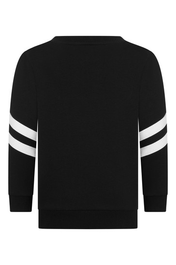 보이즈 블랙 & 실버 코튼 스웨터