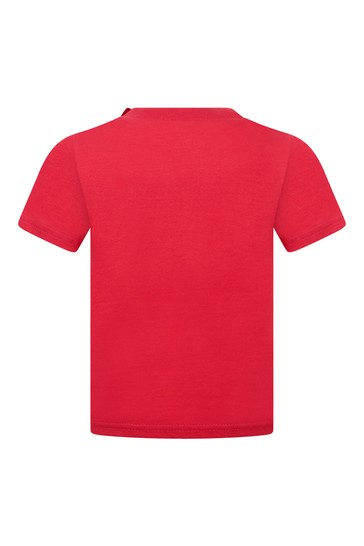 Baby Boys Red Cotton Jersey Top