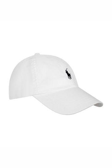 Boys White Classic Cap