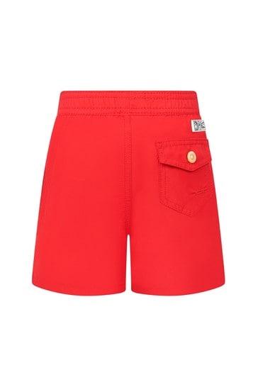 Baby Boys Red Swim Shorts