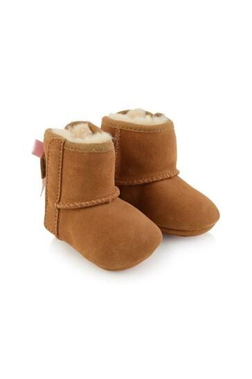 Baby Girls Metallic Jesse Bow Pre Walker Boots