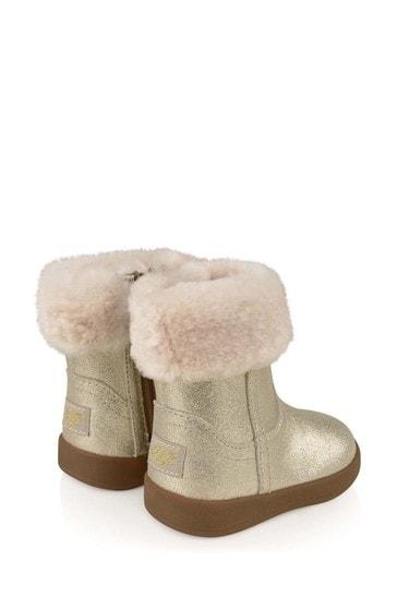 Baby Girls Gold Metallic Jorie II Boots