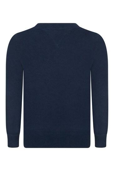 보이즈 네이비 코튼 에센셜 스웨터
