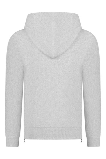 Boys Grey Cotton Hooded Sweater