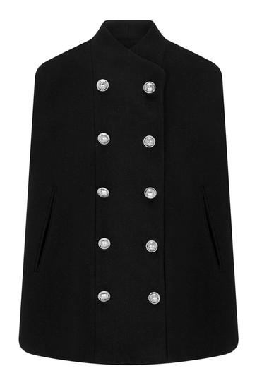 Girls Black Wool Coat