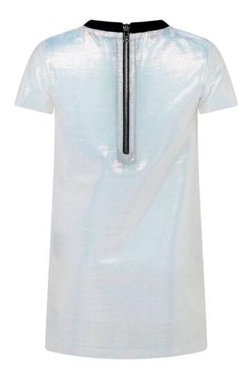 Girls Iridescent Logo Dress