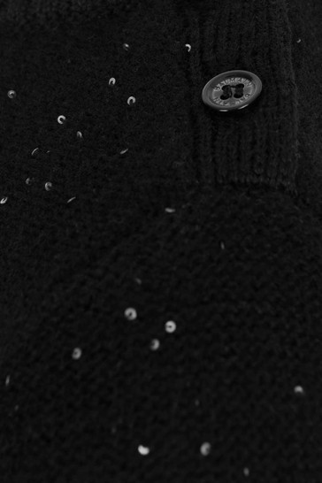 Baby Girls Black Wool Knitted Jumper