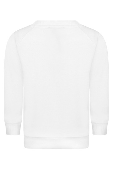 Boys Cotton Logo Print Sweater
