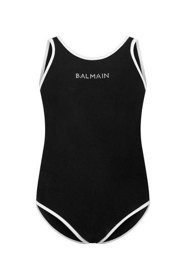 여자 블랙 로고 수영복