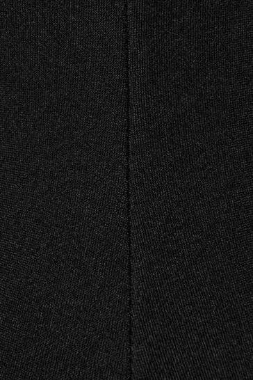Girls Black Logo Swimsuit