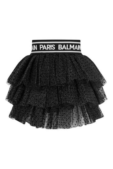 Girls Spotted Tulle Skirt