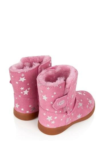Girls Pink Keelan Stars Boots