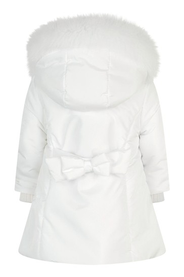 Girls Ivory Padded Coat