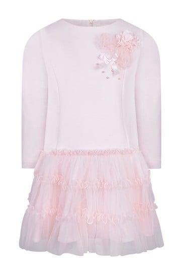 Girls Pink Tulle Dress