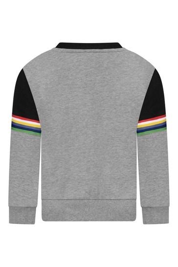 걸스 블랙/그레이 로고 스웨터