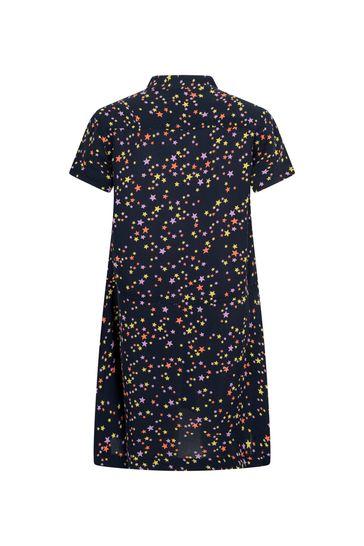 Girls Black Starry Sky Viscose Dress