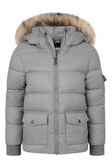 Kids Grey Down Padded Coat