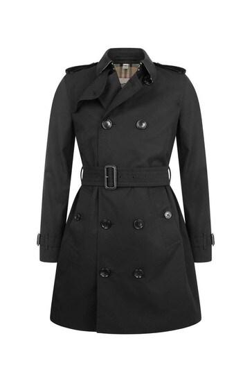 Girls Black Mayfair Trench Coat