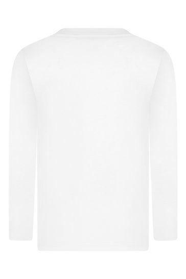 Boys White Cotton Wild Animals T-Shirt