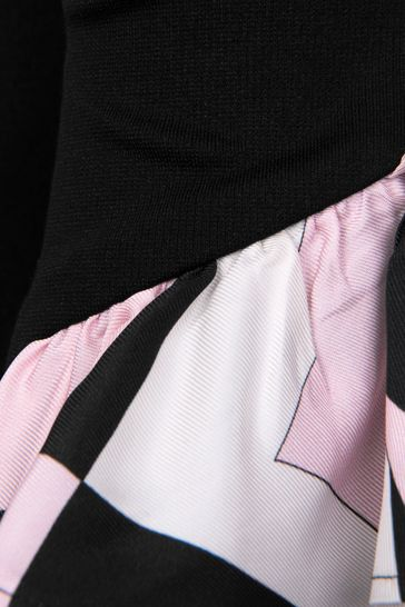 Girls Black & Pink Frill Trousers