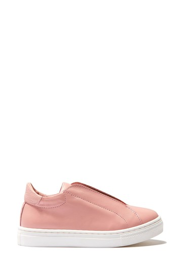 Leather Slip On Trainers