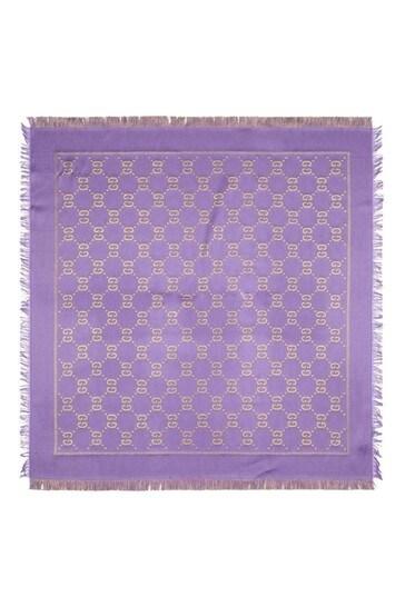 Purple GG Lamè Shawl