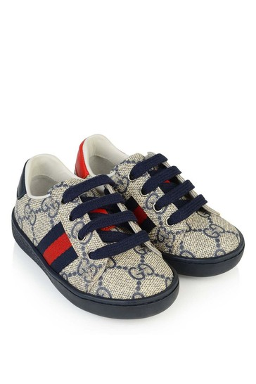 Navy/Beige GG Supreme Low Top Trainers