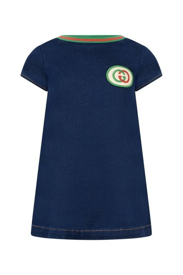 Baby Girls Blue Denim Jersey Dress
