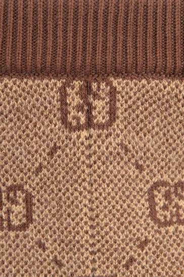 Baby Boys Beige Wool Blend Knitted Bottoms