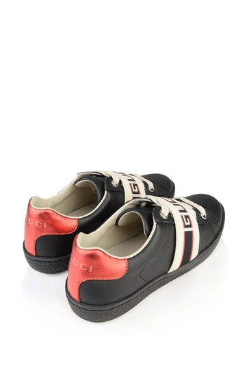 Black Leather Ace Trainers
