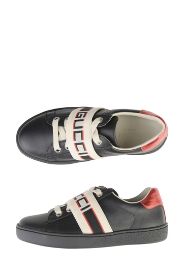 Kids Leather Ace Trainers