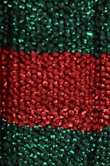 GUCCI Red & Green Stripe Shiny Headband
