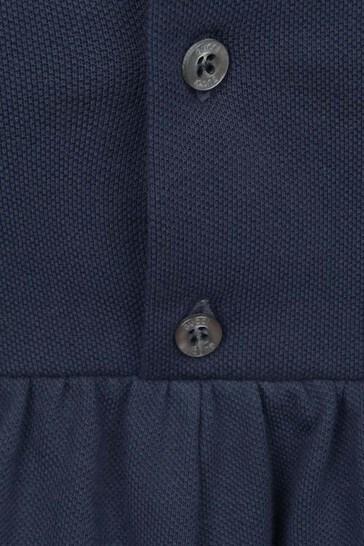 GUCCI Navy Cotton Pique Dress