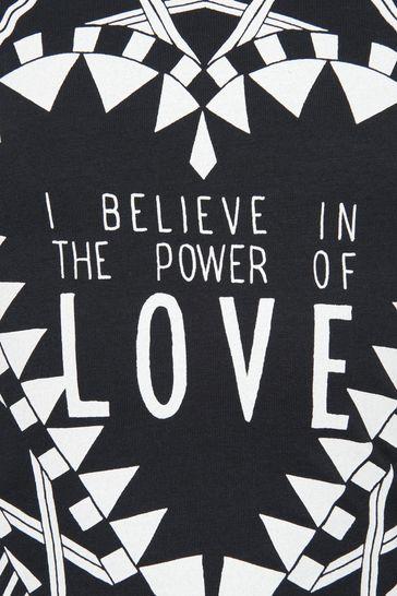 Girls Power Of Love Print Top