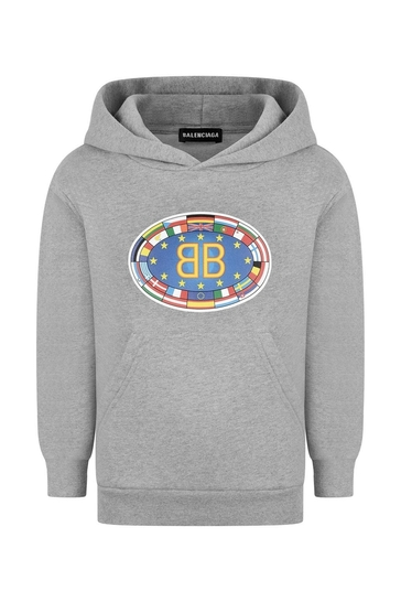 Kids Cotton Logo Hoodie