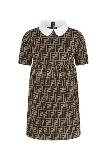 걸스 브라운 FF 로고 드레스