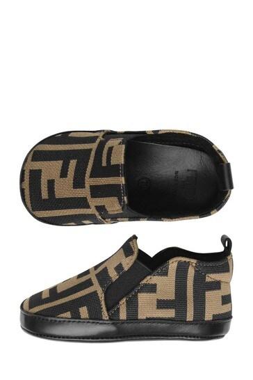 Baby Beige FF Logo Pre-Walker Shoes